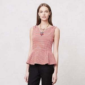 Anthropologie Postmark Peplum Top